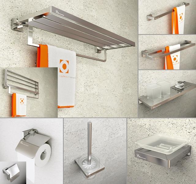 sandblast modern bathroom hardware sets spray aluminum solid rh aliexpress com Modern Towel Ring Bathroom Hardware Modern Bathroom Accessories Sets