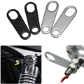 2 x Motorcycle Turn Signal Indicator Light Lamp Holder Shock Brackets For Custom Fork Chopper Bobber Cafe Racer Clamp Mounts