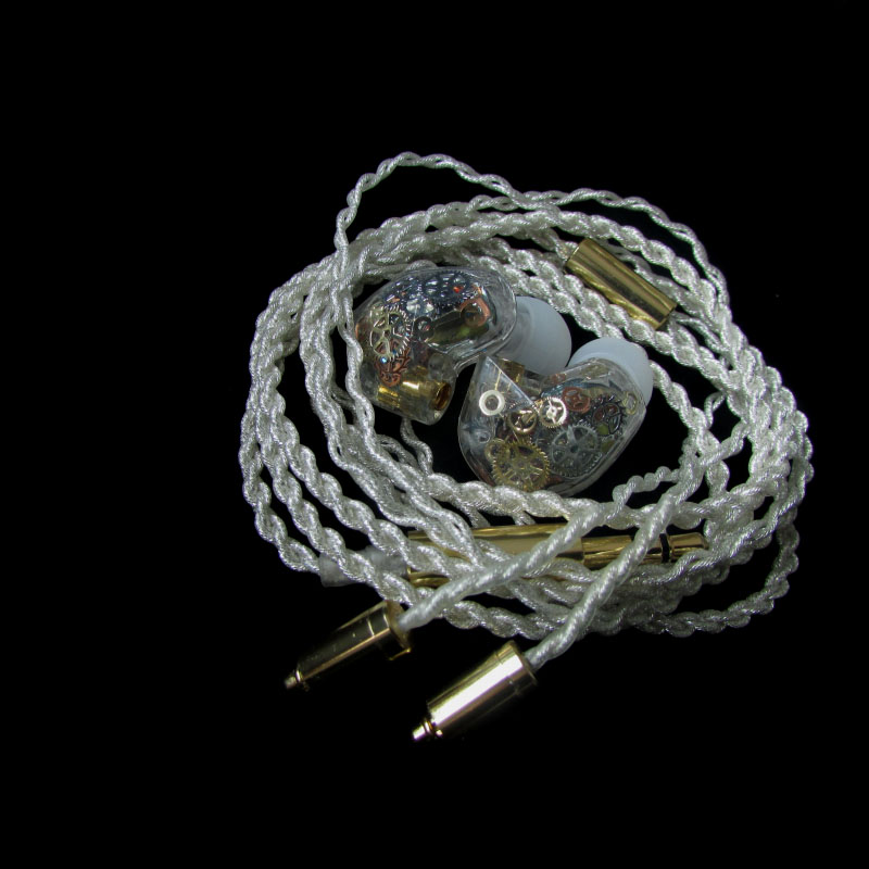 DIY earphone silver plated wire pluggable diy earphone wooden shell silver plated furukawa teflon wire