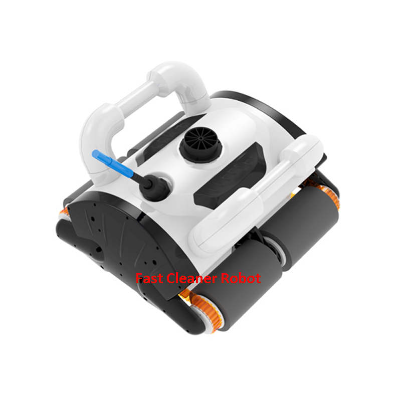 White Color Robotic pool cleaner ,swimming pool robot vacuum cleaner,swimming pool cleaning equipment with caddy cart free shipping swimming pool cleaning equipment swimming pool automatic cleaner wall climbing function ce rohs