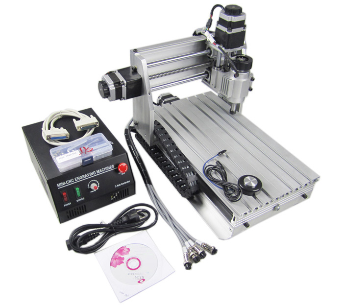 230W CNC 3020 Z-DQ 3D Design Mini 4-Axis Engraving Machine Drilling/Milling Carving Router,Free tax to EU cnc 3020 mini desktop engraving machine 2030 drilling