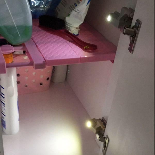Lampe sous le placard, 30 pièces, universel sous le placard lampe à charnière intérieure placard capteur de lumière cuisine domestique