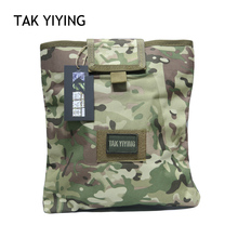 TAK YIYING Large Capacity Waist Molle Militär Tactical Airsoft Paintball Jakt Folding Mag Recovery Dump Pouch