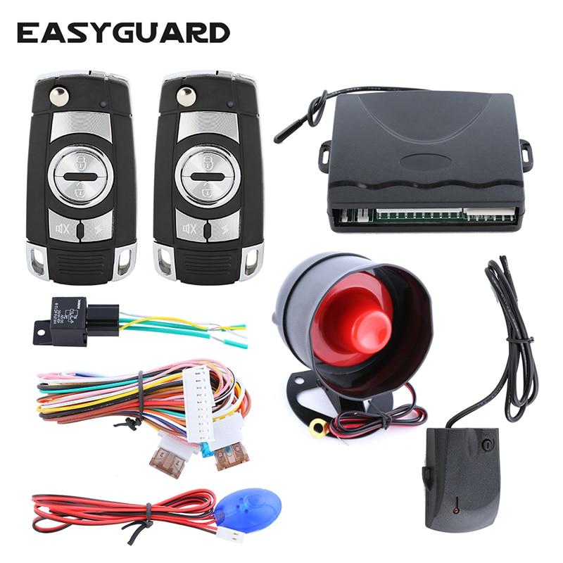 Système d'alarme de sécurité de voiture de qualité avec capteur de choc de lumière LED verrouillage central anti-détournement d'entrée sans clé DC12V