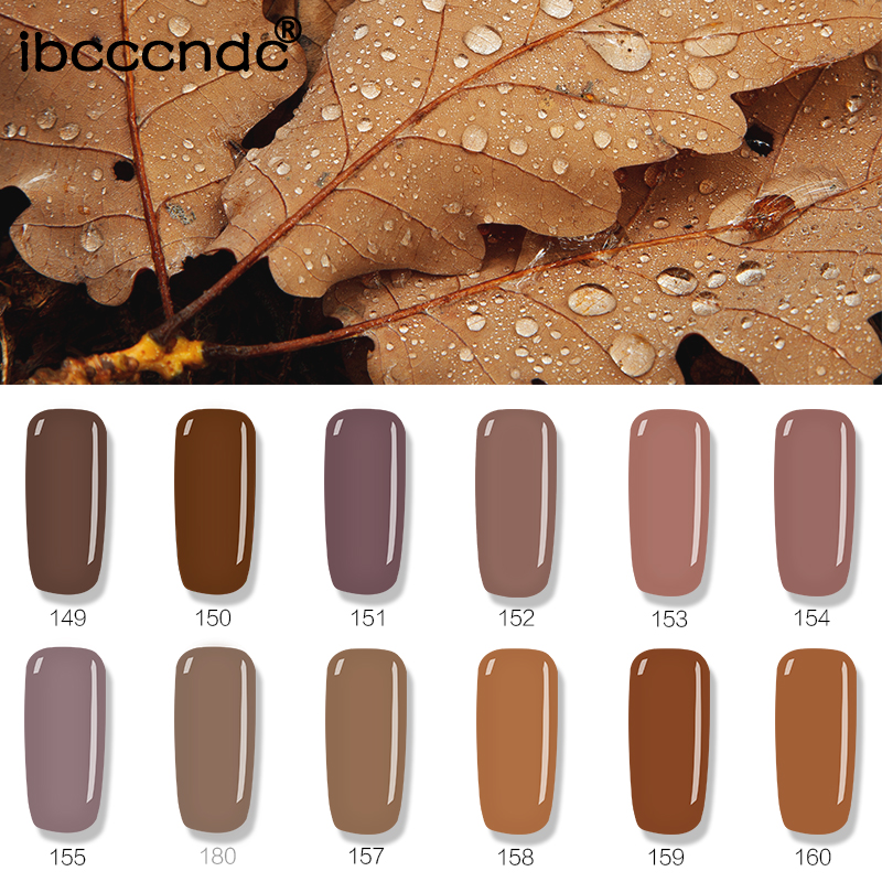 1pc Brown Series Colors Nail Gel Polish Soak Off