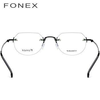 7f6ddb060f Compare prices B Titanium Optical Glasses Frame Women Vintage Round Prescription  Eyeglasses Men Retro Myopia Acetate