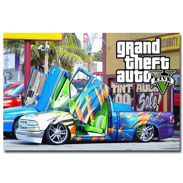 Шелковый Плакат гобелен Grand Theft Auto V вариант 4
