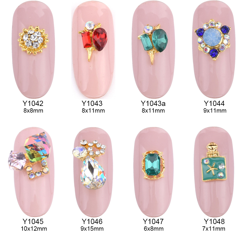 10pcs New 3d nail art decoraitons strass rhinestones alloy nail charms geometrical square gems drops design jewelry nails Y1042 10pcs gold 3d rudder metal flower pearl music note mixed rhinestones cross nail art decoration jewelry nails supplies y180 187