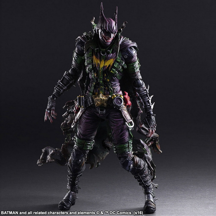 DC COMICS VARIANT PLAY ARTS KAI BATMAN Rogues Gallery The Joker PVC Action Figure Collectible Model Toy 26cm batman the joker playing poker ver pvc action figure collectible model toy 19cm