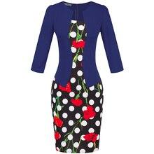 Summer Bodycon Flower Patchwork Dress