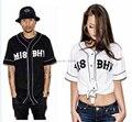 2017 Новый Стиль misbhv pyrex футболка Тенденции Моды Случайные Бейсбол Рубашка Активность V-образным Вырезом Западном Побережье Хип-Хоп Уличной Рубашка
