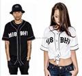2017 Nuevo Estilo misbhv pyrex camiseta Tendencia de La Moda Casual Camisa Del Béisbol Activo V-cuello Westcoast Hiphop Streetwear Camisa
