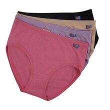 5Pcs/Lot Comfortable Cotton Women Underwear Plus Size Panties Panty Women Big Size Briefs Ladies' Underwear Everyday