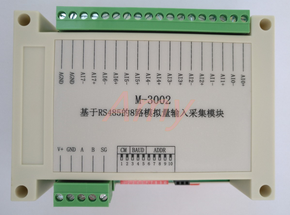 Data high speed active timing report 8 channel current and voltage analog input signal to RS485 collector.