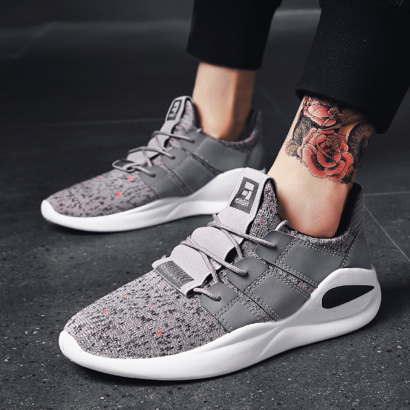 Nouvelles chaussures de course hommes chaussures de sport senior en daim confortable antidérapant extérieur mâle sneaker Deportiva respirant Masculino