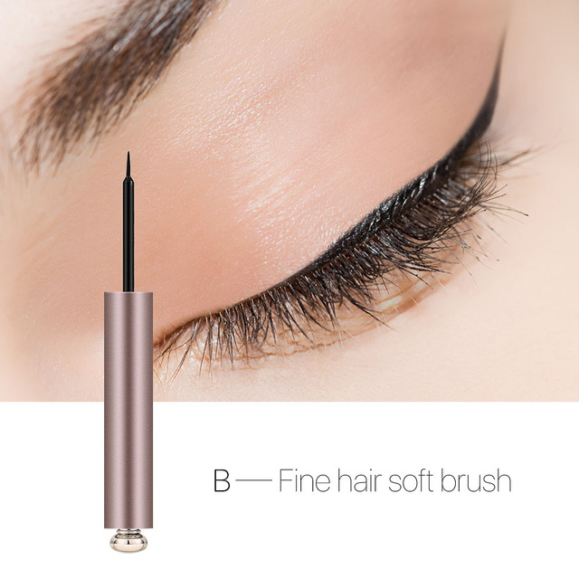 O.TWO.O Professional Thin Liquid Eyeliner Pen Silk Eye Liner Pencil 24 Hours Long Lasting Water-Proof Eyes Makeup Tools 4