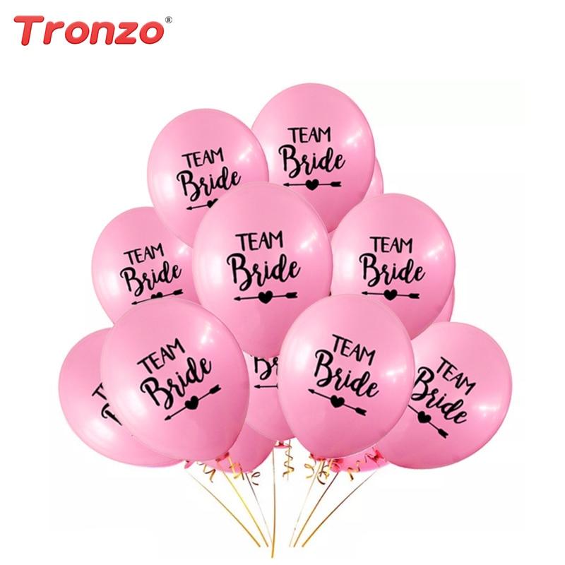Tronzo 10pcs 12Inch Team Bride Latex Balloon For Wedding