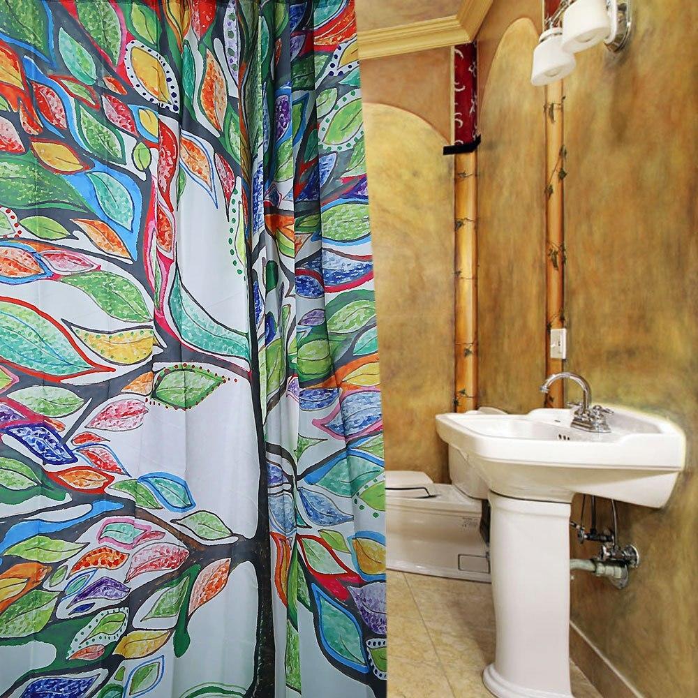 Designer Duschvorhänge colorful tree design pattern bath curtain waterproof polyester