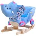 Kingtoy Плюшевый слон Детские Кресла-качалки Детей Деревянные Качели Сиденье Детский Открытый Ездить на Качалке Игрушки Коляски