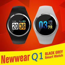 Купить с кэшбэком [In Stock] Multi-language Newwear Q1 bluetooth 4.0 Smartwatch Smart Watch Men Women Waterproof App Control support IOS Android