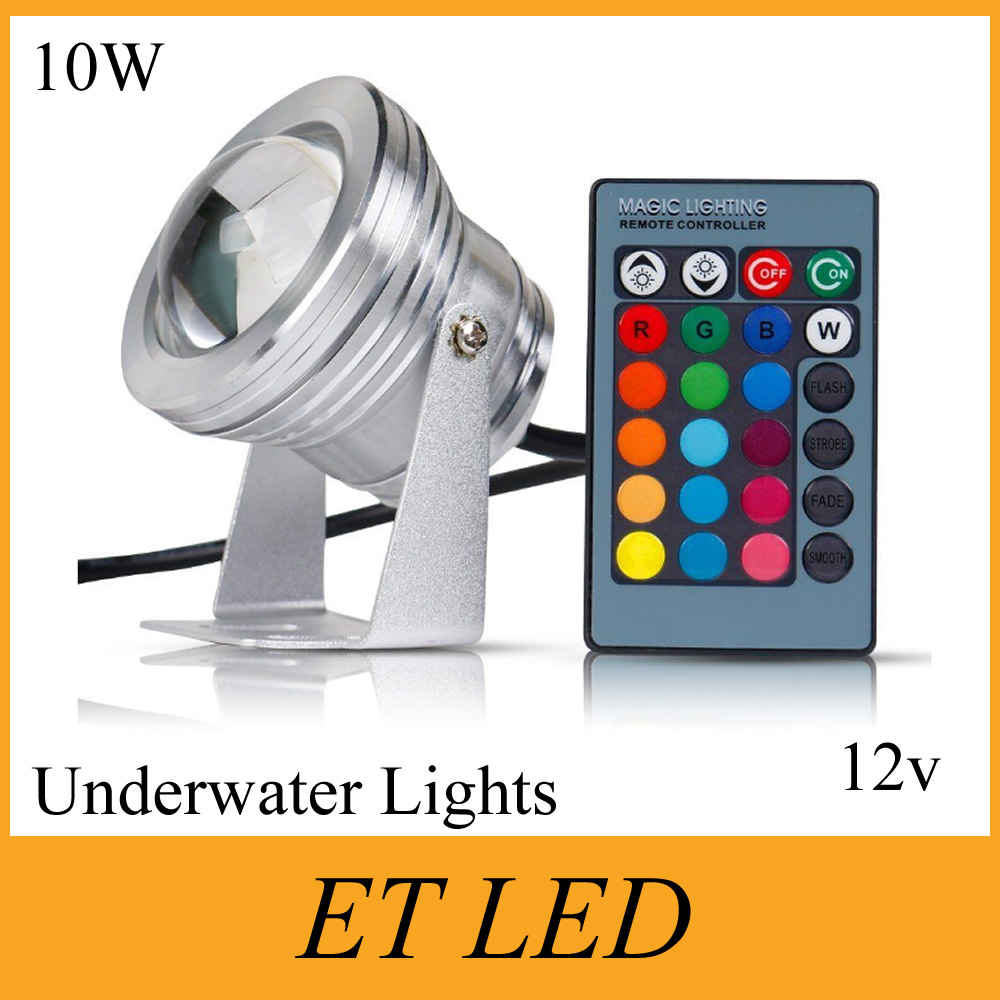 Led Underwater Lights 24keys Remote Controller Ce Ul 6pieces/lot 10w Rgb Underwater Ip65 Led Lamp Input Voltage Ac/dc 12v Fountain Pond Swimming Pool