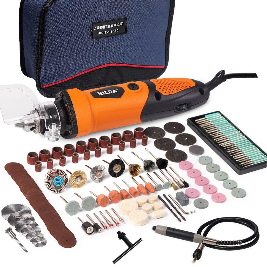 цена на HILDA 450W Electric Drill Grinder Engraving Pen Grinder Mini Drill For Dremel Electric Rotary Tool Grinding Machine