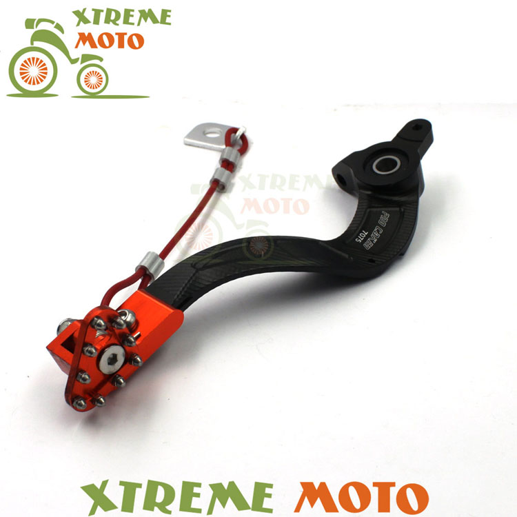 CNC Billet Orange Flexable Rear MX Foot Brake Lever Pedal For KTM 125 150 200 250 300 400 Motocross Dirt Bike Off Road Racing free shipping 7507 cnc aluminium gear shift shifter lever for ktm 65sx2008 motorcycle motocross enduro dirt bike off road mx