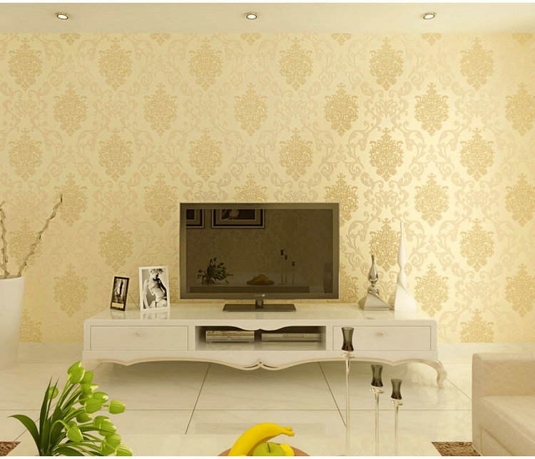 High Quality Luxury Europe 3D Wallpaper Non woven Damascus ...