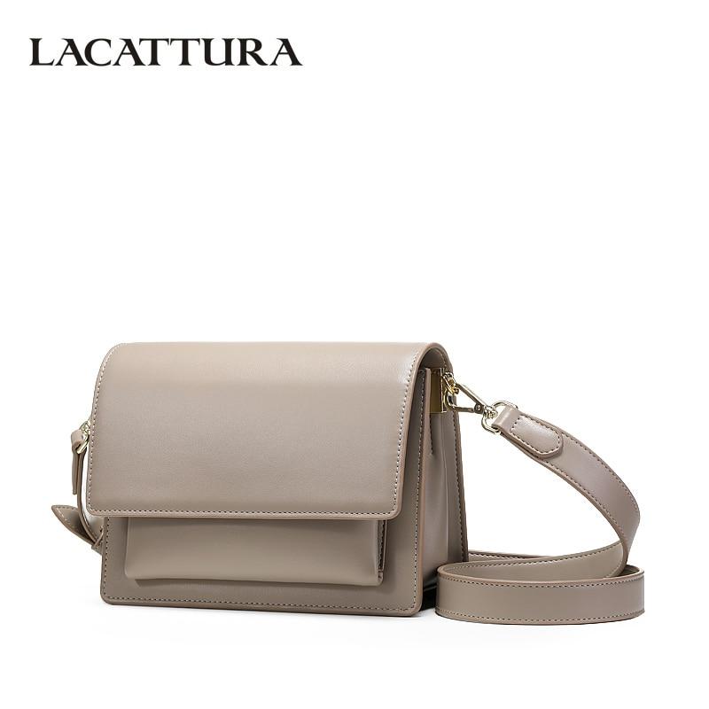 LACATTURA Luxury Designer Handbag Women Leather Shoulder Small Bag Fashion Messenger Bags Lady Purse Crossbody Organ Flap Bags цена 2017