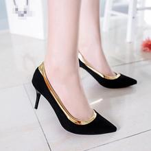 Red Bottom High Heels Zapatos Mujer Slip on Office & Career Ladies Shoes Pumps Pointed Toe Dress Women Shoes Elegant Mental Shoe