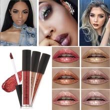 Lipgloss metallic focallure nude pigment velvet lipstick tattoo lasting matte liquid
