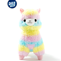 2015 New 1pcs 13 8 35cm Rainbow Alpaca Plush Toy Japanese Soft Plush Alpacasso Baby 100