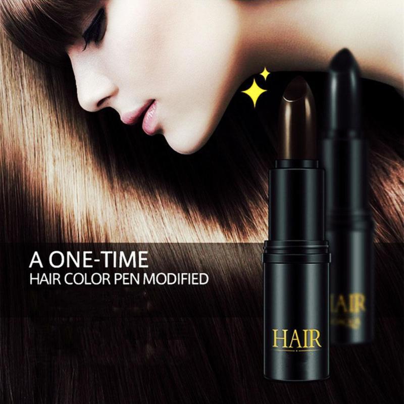 1 шт. мелки для волос окрашенная одноразовые пасты покрытие седых волос чёрный; коричневый волос здоровье макияж D3