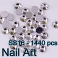 SS16 1440 unids Flatback Redondo de Cristal Del Arte Del Clavo Para los Clavos DIY Arte Del Teléfono Celular Zapatos Y Decoraciones de La Boda