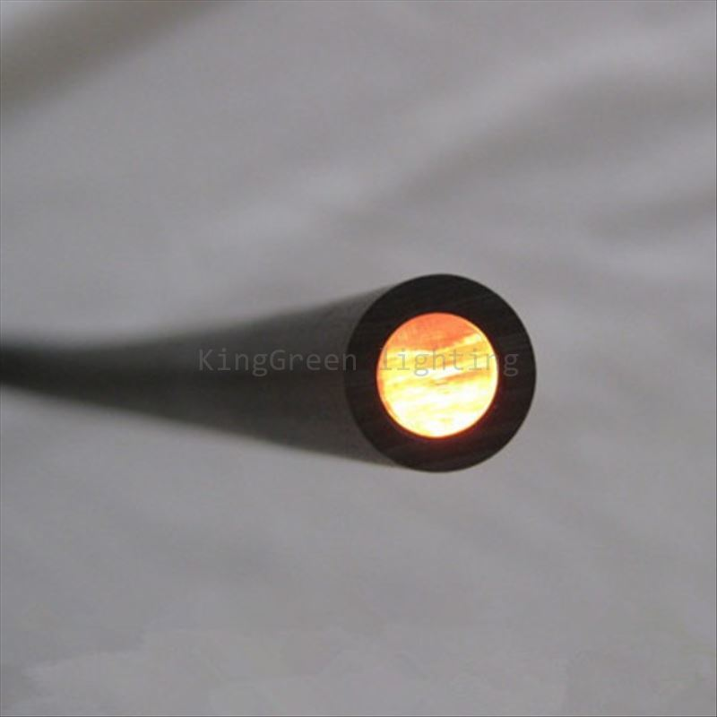 10mX Inner 5mm outer 7mm diameter end glowr black PMMA fiber optic cable free shipping
