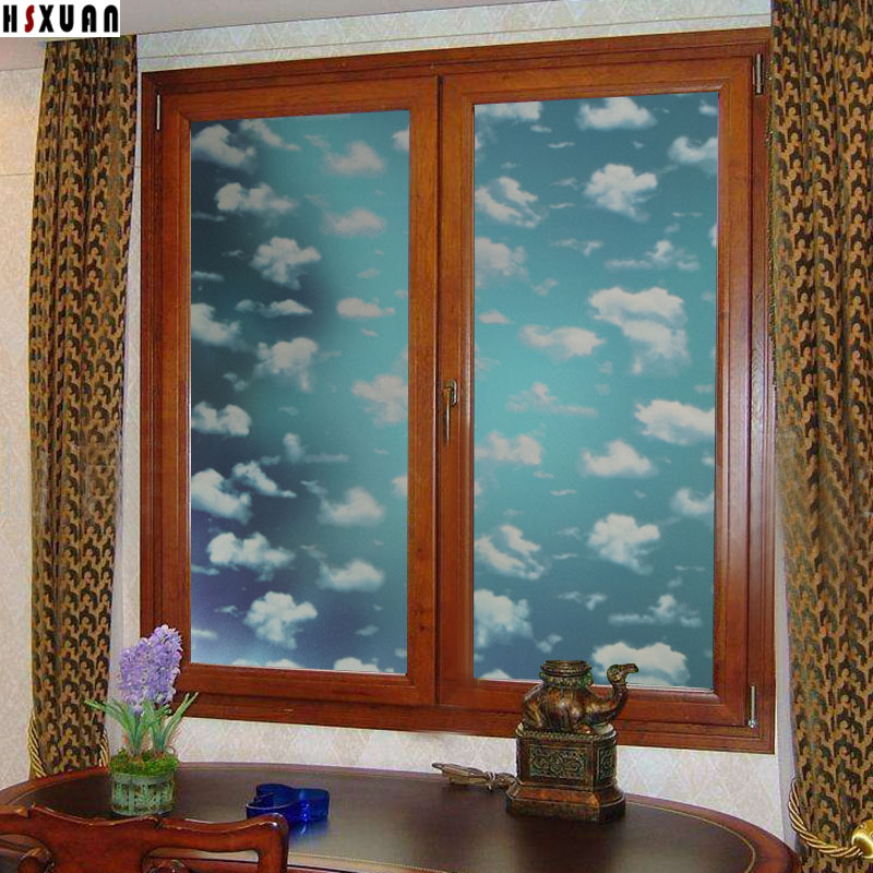 pvc glue tinting window frosted countertop decor window glass stickers