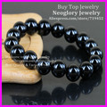 5pcs Black Onyx Agate Beads Bracelet,12mm Semi Precious Stone Beads Bracelet,Yoga Jewelry,Gems Agate Bead Mens Bracelet