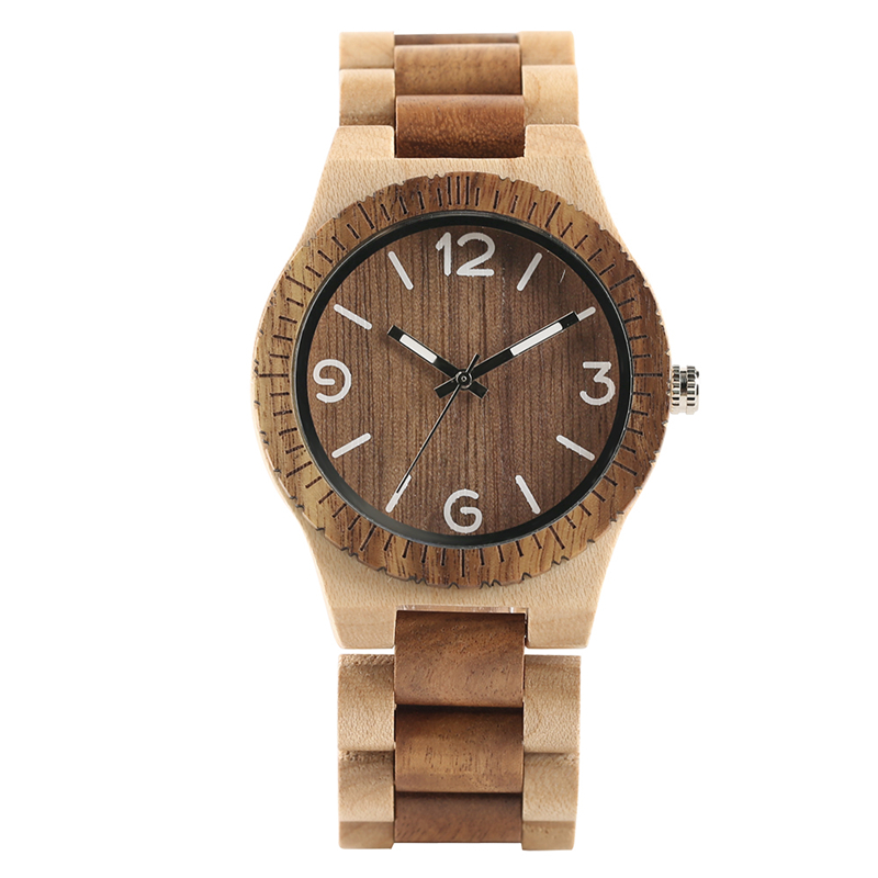 2018 New Fashion Natural Wood Quartz Men Novel Full Wooden Father's Day Gift Simple Wrist Watch for Men Women Relogio Masculino new fashion wooden bamboo wrist watches wood casual quartz watch men women relogio masculino gift free shipping