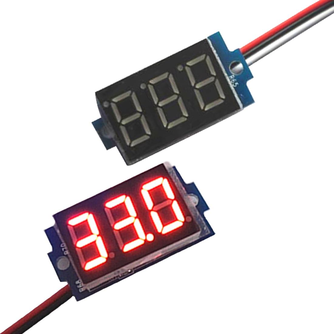 New Brand Direct Current DC 0-99.9V 0.36 Inch Red LED Digital Display Voltmeter Panel