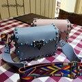 Candy Color bag mini top women leather handbags brand luxury designer handbag rivet ladies Party bags High quality Messenger bag