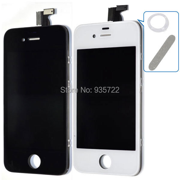 NEW White Replacement LCD Touch Screen Digitizer Glass Assembly for iPhone 4 4G+ 7 in 1 tools