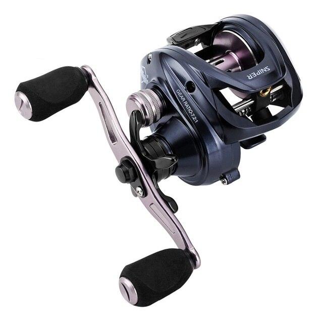 Nuovo 2018 di qualità Ad Alta Velocità Casting Reel SNIPER Anti-Corrosive 11 kg 11BB 7.2: 1 Metallo Bobina di Pesca Ruota di acqua salata Carp Fishing