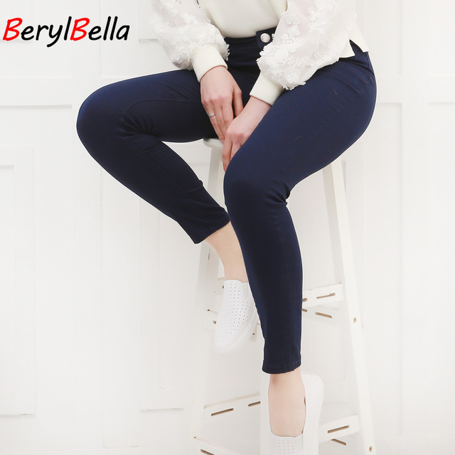 Women Pants Candy Jeans 2018 Spring Fall Pencil Pants Slim Casual Female Stretch Trousers White Jean pantalones mujer BerylBella 3