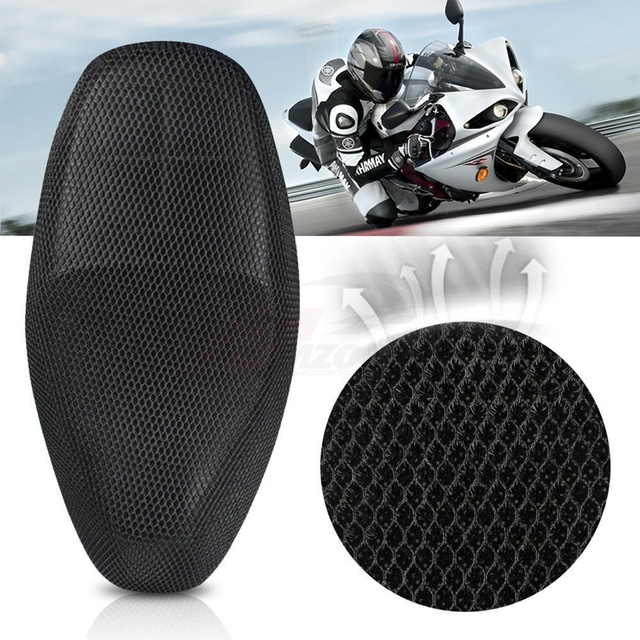 3D Sandwich Fabric Sunshade Sunproof waterproof Sunscreen Motorcycle breathable Cooling Seat Cover Heat Insulation Protection