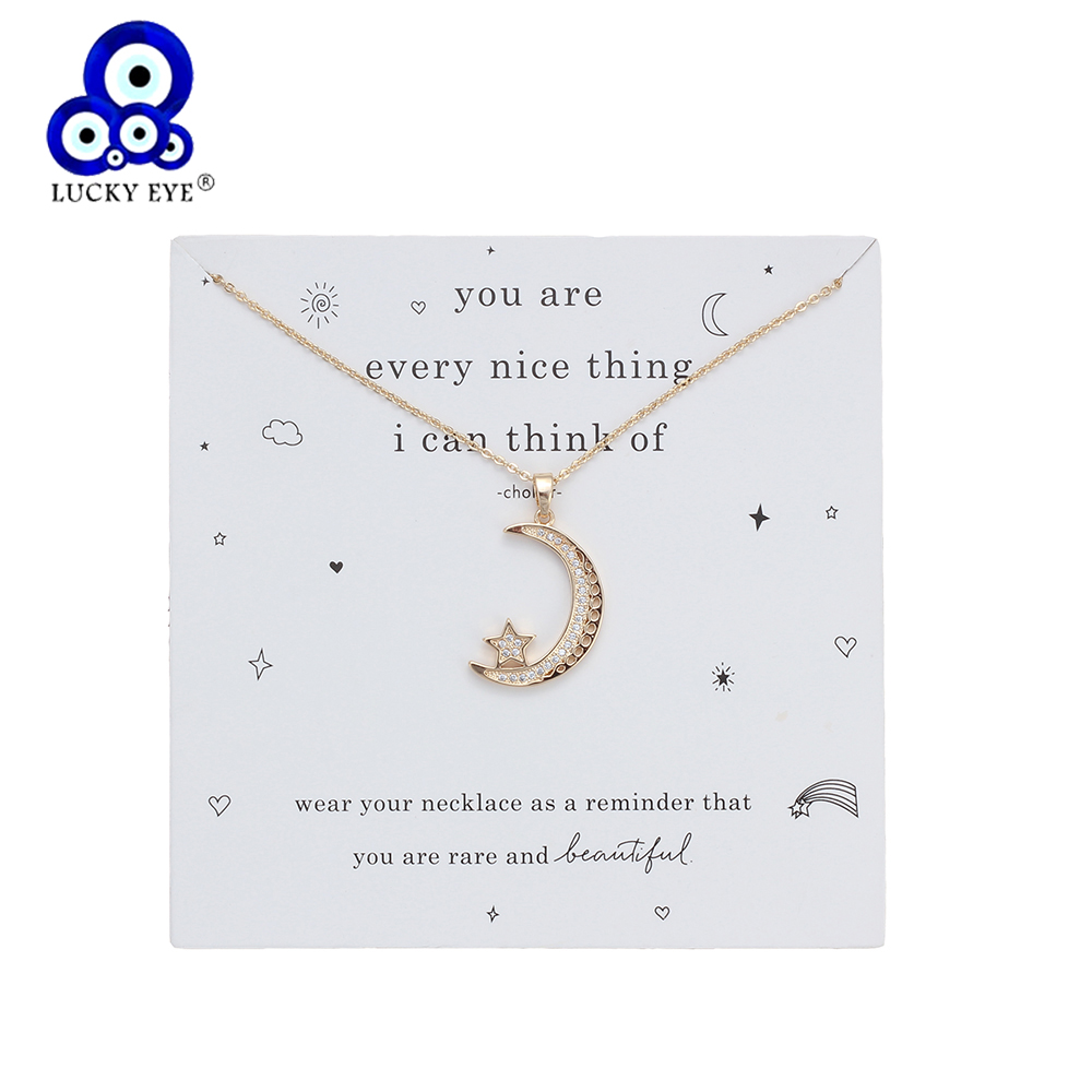 1pc Lucky Alloy 4 style Hamsa hand Charms Wish Card Necklaces Gold Silver Links