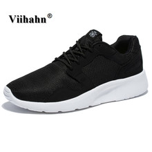 Viihahan Mens Walking Shoes 2017 Spring And Summer Lace Up Flats Driver Shoes for Men Black Breathable Mesh Fashion Casual Shoes