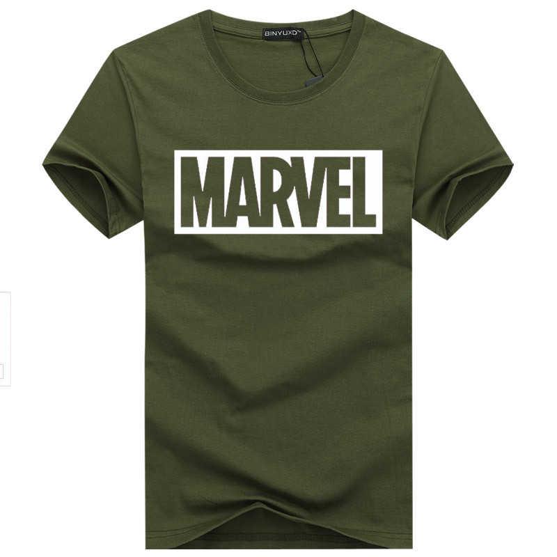 BINYUXD tee shirt zomer Nieuwe Mode MARVEL t-Shirt mannen katoen korte mouwen Casual mannelijke tshirt marvel t-shirts mannen tops tees