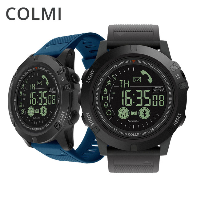 COLMI Men Smart Watch 5ATM Waterproof Pedometer Calorie Call/Message Reminder Remote Camera Sport Smartwatch for Android iOS