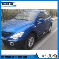 For Actyon 2014+ Running Boards Auto Side Step Bar high quality glass fiber