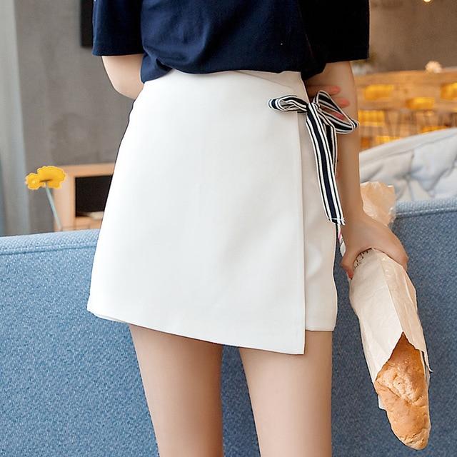 78d79ffcc New summer Womens ladies A-line Pencil Jeans Skirt Front Button High Waist  Denim small pockets Skirt black white harajuku